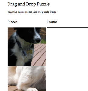 HTML5 Drag and Drop Puzzle