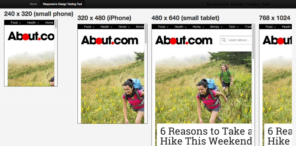 A bad way to test responsive designs