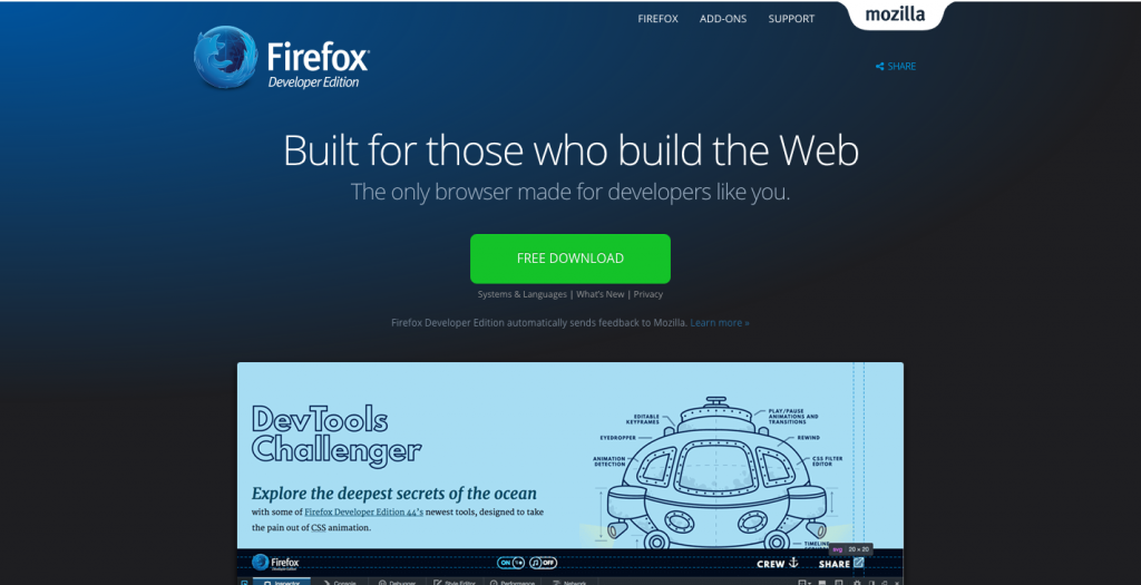 Firefox Developers Edition