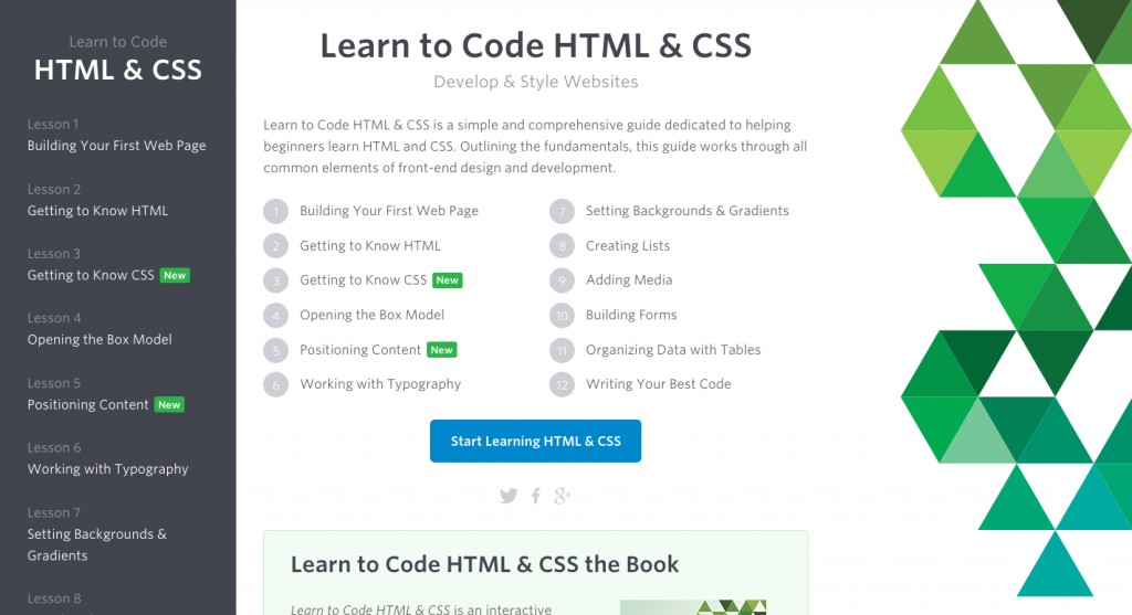 Learn to Code HTML and CSS Website